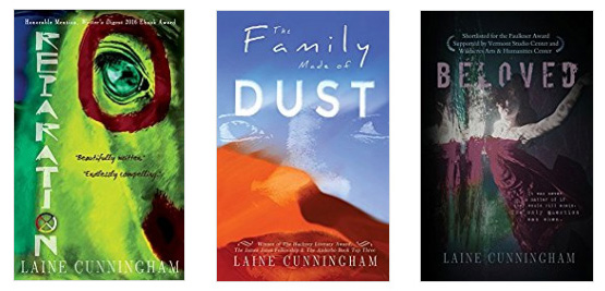 Novels by Laine Cunningham: Reparation, The Family Made of Dust, Beloved | Cover design by Angel Leya | www.angeleya.com