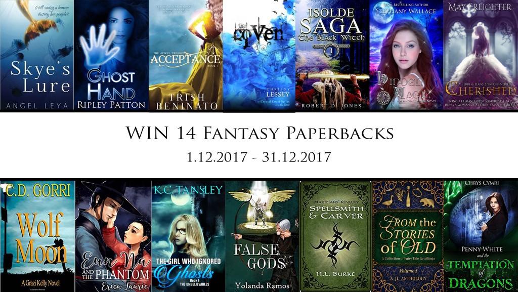 Win 14 #Fantasy #Paperbacks, December 2017, hosted by GetLostInFantasy.com | www.AngeLeya.com