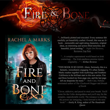 Book Blitz ‏+ #Giveaway: Fire and Bone by @RachelAnneMarks