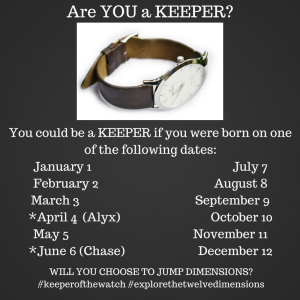 Are YOU a Keeper? | Keeper of the Watch by Kristen L. Jackson | Blog Tour organized by YA Bound | www.angeleya.com