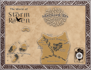 Map from Storm Raven by K Hanson | Tour organized by YA Bound | www.angeleya.com