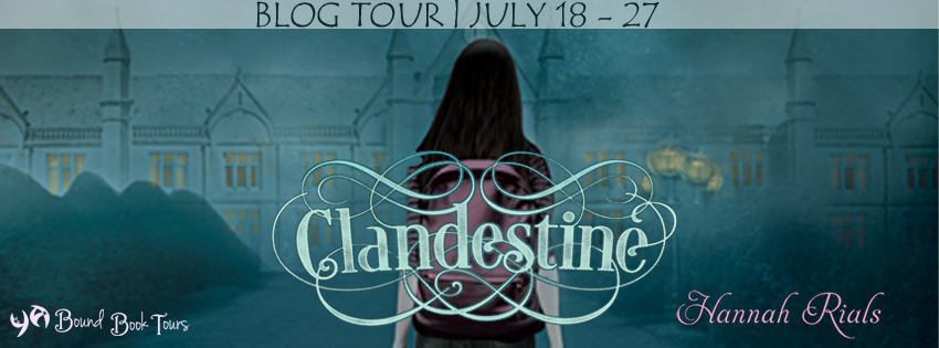 Blog Tour: Clandestine by Hannah Rials | Blog Tour organized by YA Bound | www.angeleya.com