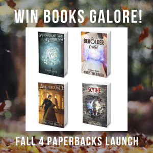 4 Paperbacks Raffle by Christina Bauer | Tour organized by YA Bound | www.angeleya.com