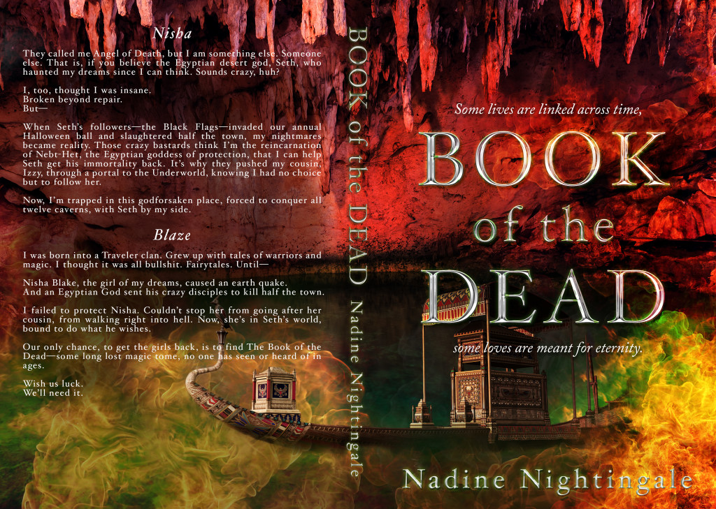 Full Cover: Book of the Dead by Nadine Nightingale | Tour organized by XPresso Book Tours | www.angeleya.com