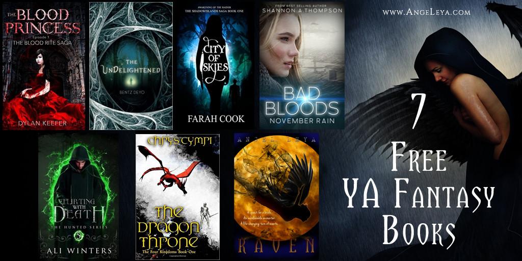 7 Free YA Fantasy Books to feed your darker side | www.AngeLeya.com