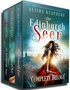 Book review: The Edinburgh Seer Complete Trilogy by Alisha Klapheke | www.AngeLeya.com #fantasy #alternatepresent #4stars
