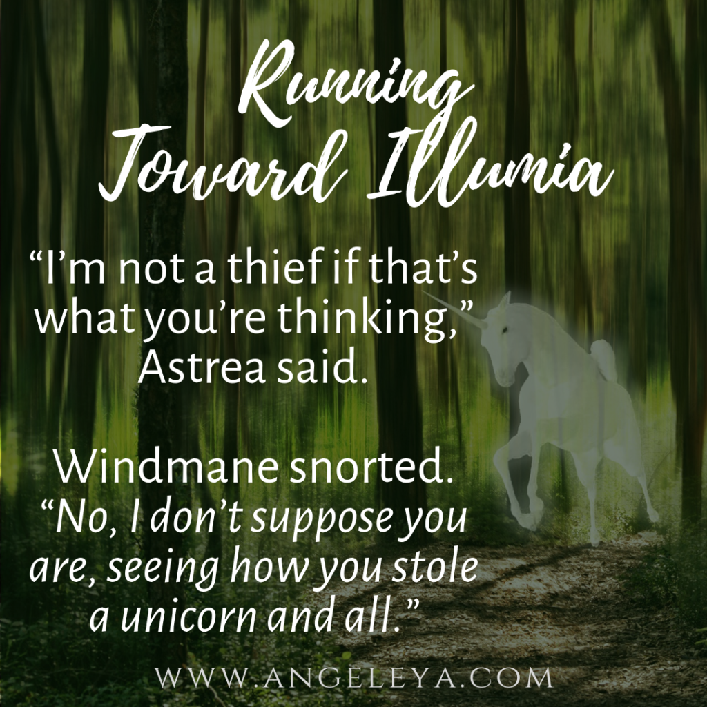 Running from Illumia, book quote | www.angeleya.com