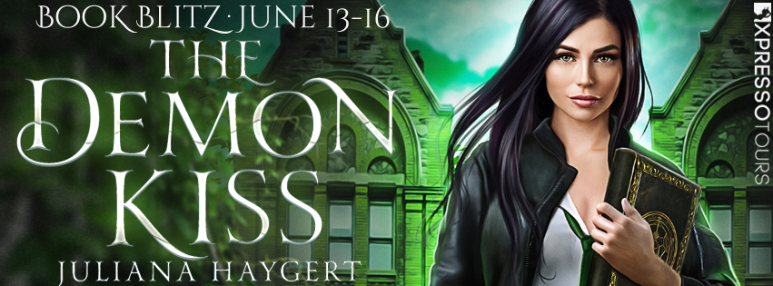 Book Blitz: The Demon Kiss by Juliana Haygert | Tour organized by Xpresso Book Tours | www.angeleya.com