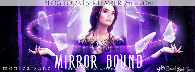 Book Tour: Mirror Bound by Monica Sanz | Blog tour organized by YA Bound | www.angeleya.com